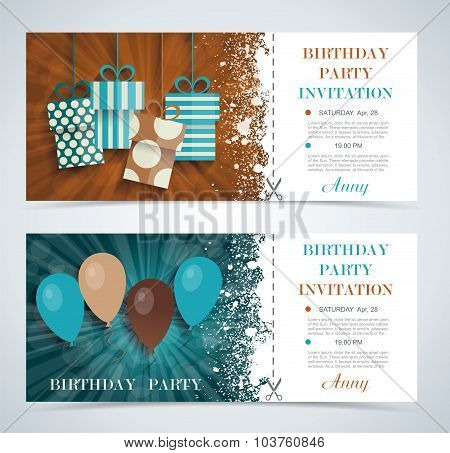 Complimentary Ticket To A Party On  Birthday