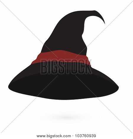An illustration of a cartoon witch's hat