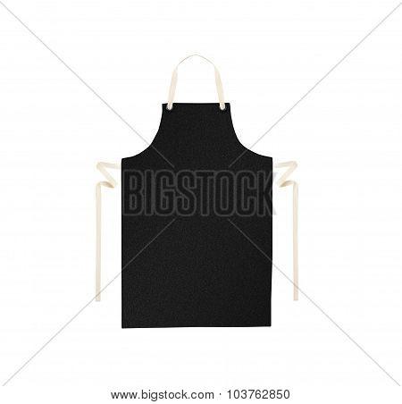 Black apron isolated on white