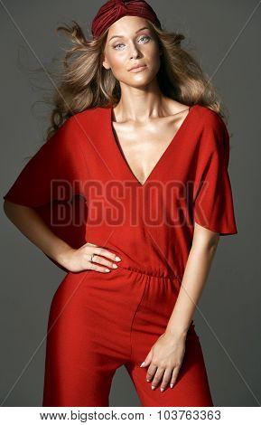High fashion female model
