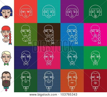 Face Icons Set