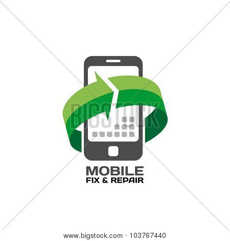 Mobile Devices Service And Repair Logo Template