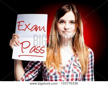Passed Test Or Exam And Happy Girl