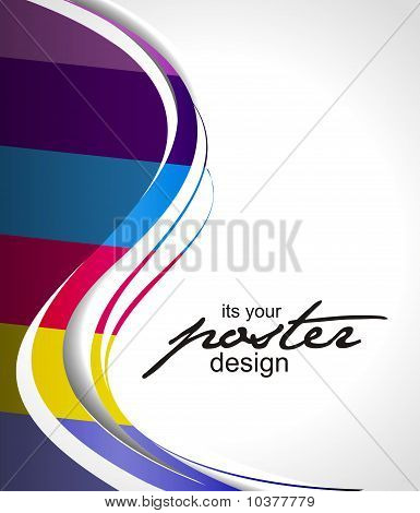 Abstract background with colorful design