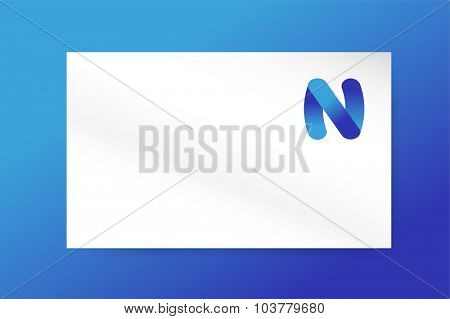 N letter vector. N logo icon. N business card. N symbol silhouette. N isolated vector icon, N business logo, n letter, N vector, N logotype, N modern symbol, N company name brand. N business card
