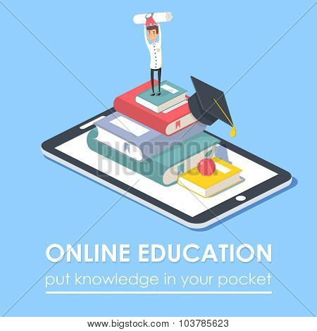 Vector Concept For Online Education.