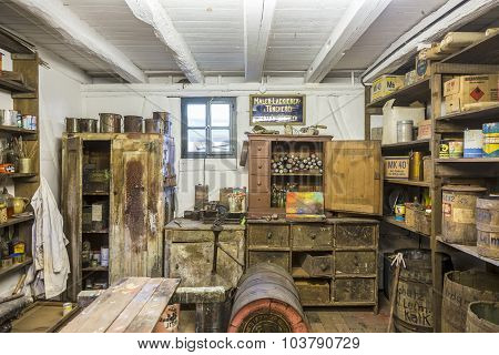 Ld Painters Shop At Hessenpark From Inside In Neu Anspach