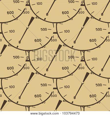 Pattern illustration of a pressure meter gauge