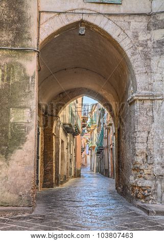 Old Alley In Lanciano, Abruzzo, Italy