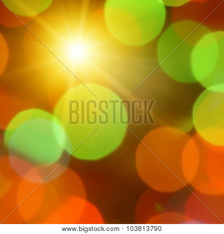 colorful abstract background with sun
