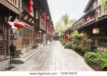 Jinli Ancient Street In Chengdu