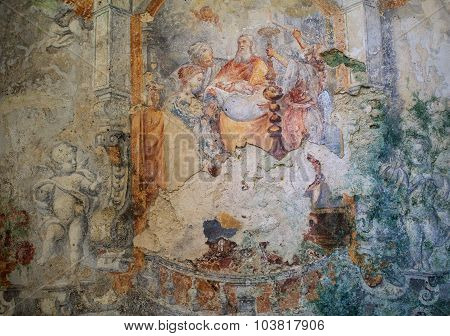 Frescoes Of Carmine Church, Erice