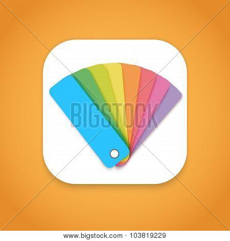 Design Color Guide Fan Flat Vector Mobile OS Application Icon fo