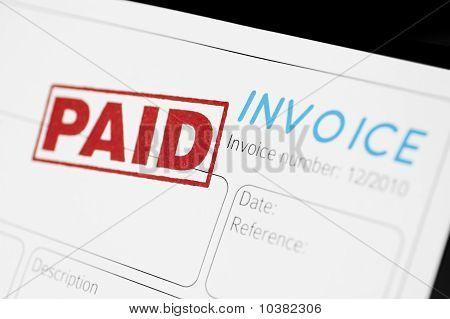 bezahlte Rechnung