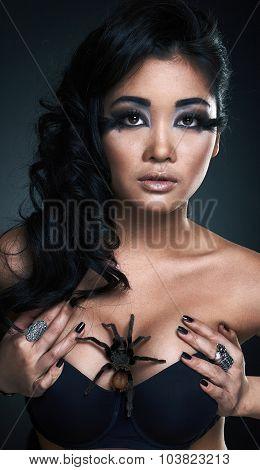 Portrait of fashion woman model