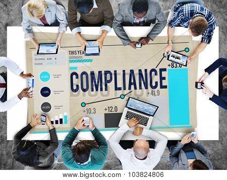 Compliance Procedure Regulations Risk Strategy Concept