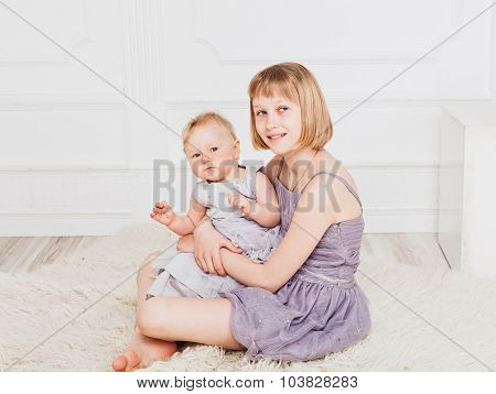 Nice picture of sisters sitting together