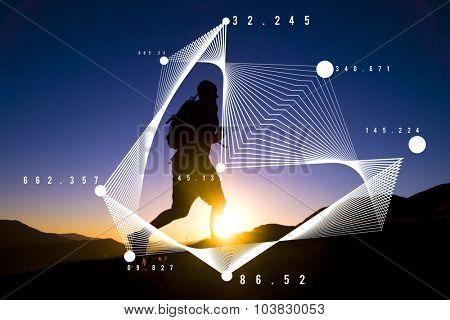 Mathematics Analysis Statistics Networking Geometry Concept poster