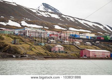 Barentsburg, Russian Settlement In Svalbard, Norway