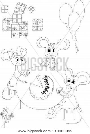 Happy Birthday Of A Mouse
