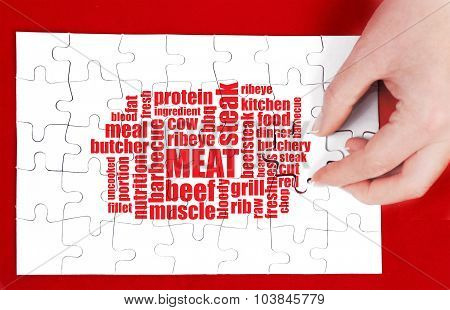 meat word cloud