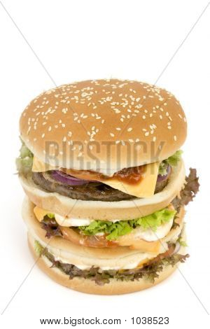 Isolated Huge Burger