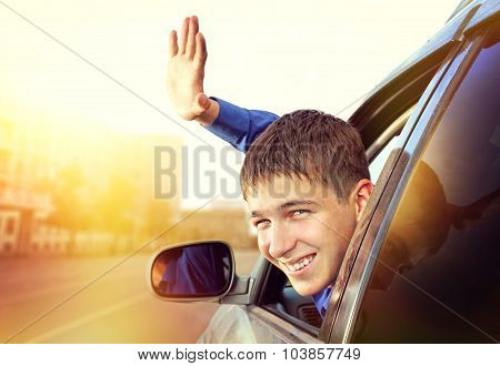 Teenager In The Car