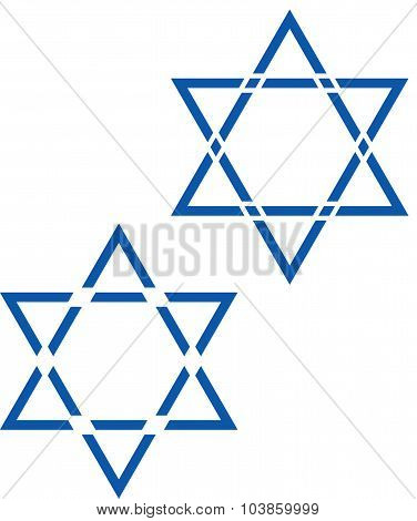 David Star Jewish Star Vector Symbol Design