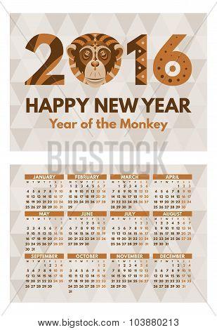 Pocket 2016 Calendar