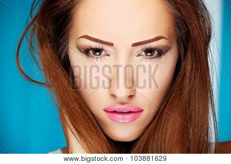 Make Up On Woman