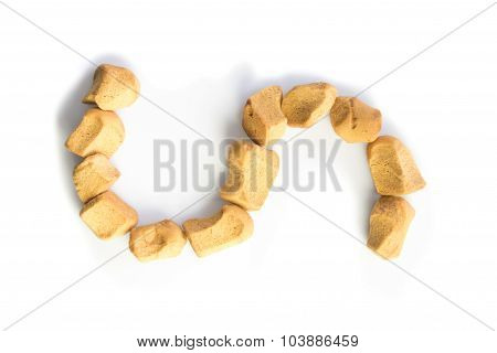 Big Letter S Made From Dutch Sweet Pepernoten