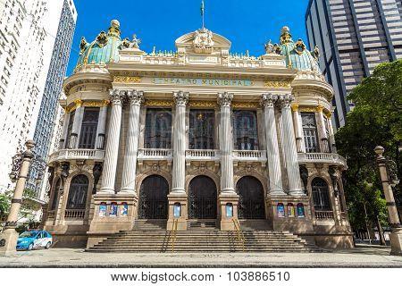 RIO DE JANEIRO - CIRCA NOV 2014: Opera House (Teatro Municipal) in Rio de Janeiro, Brazil