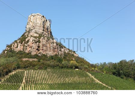 Rock of Solutre in Burgundy, France