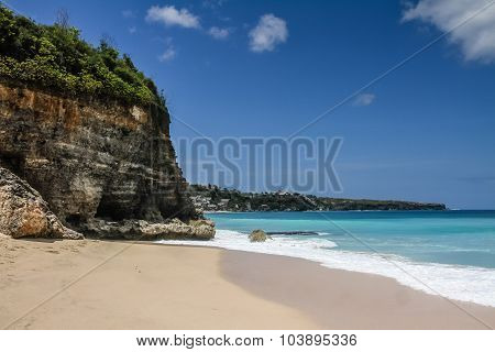 Beautiful And Empty Dreamland Beach-bali,indonesia