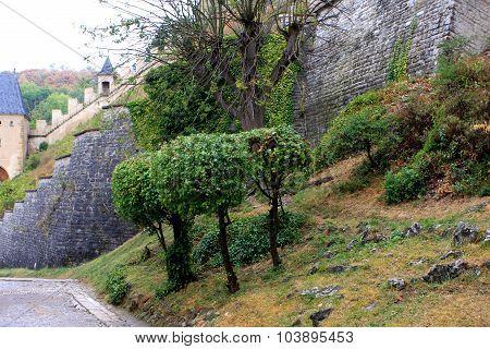 Road to the Karlstejn Castle, Czech Republic