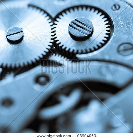 old clock's gears