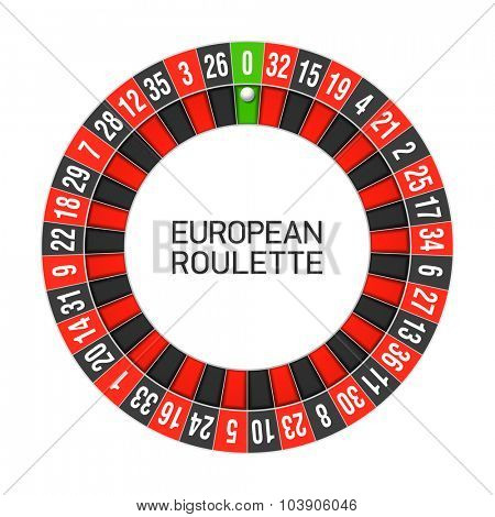 European roulette wheel. Vector.