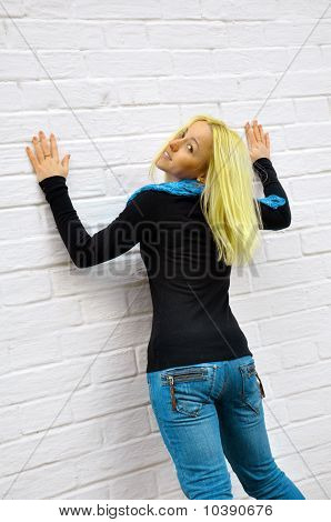 The Girl Costs About A Wall