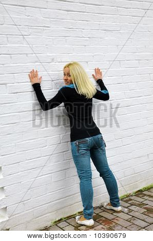 The Girl Costs About A White Wall