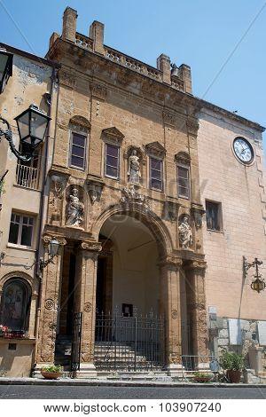 La Chiesa Di Maria Santissima Della Catena Church. Cefalu, Sicily.