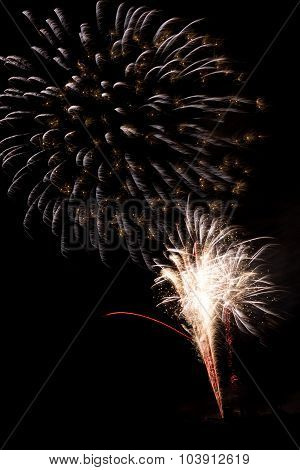 Colorful Fireworks Against A Black Background