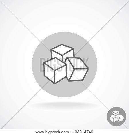 Sugar Logo. Three Cubes.