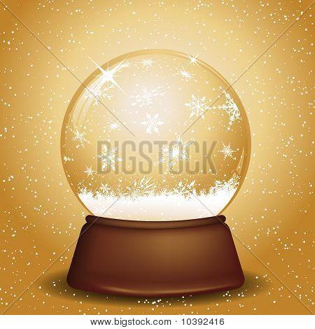 Golden Snow Globe