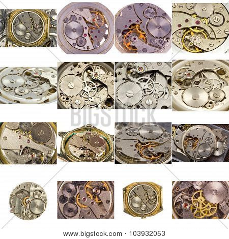 A Large Collection Of Watches Uncovered In The Macro Scale