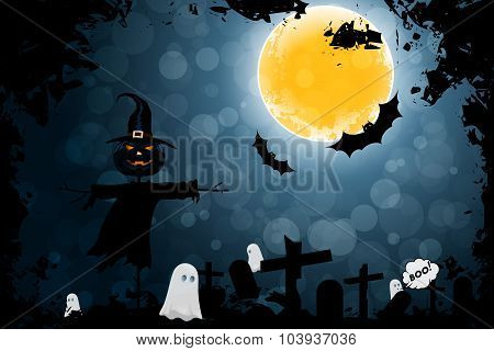 Grungy Halloween Background