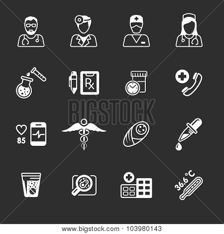 Line medical icons