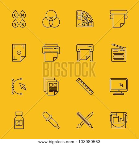Line printing icons