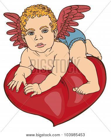 Cupid Baby Heart Color