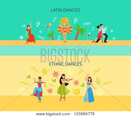 Horizontal Flat dance Style Banners