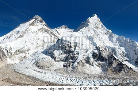 View Of Mount Everest, Lhotse And Nuptse